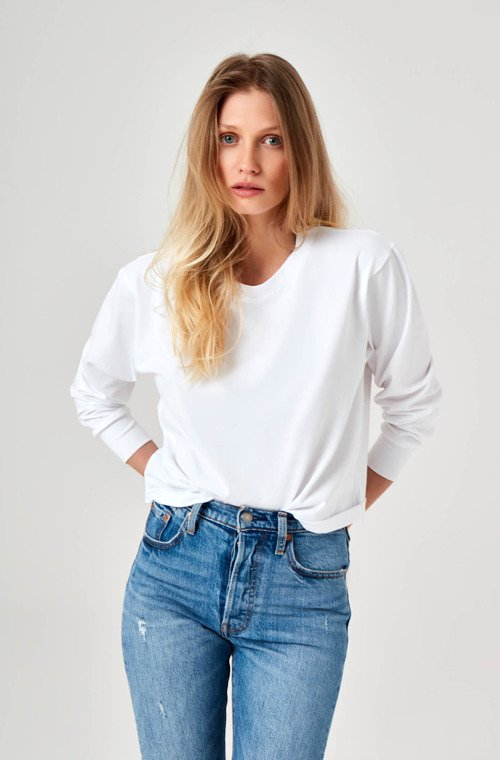 LONGSLEEVE CROPPED WHITE