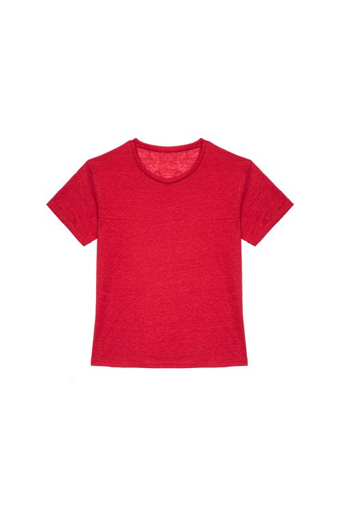 T-SHIRT VINTAGE LINEN ELECTRIC RED