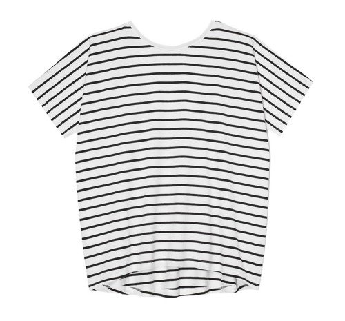 T-SHIRT Z ODKRYTYMI PLECAMI BLACK & WHITE STRIPES